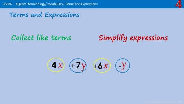 A6 - Algebra Simplifying Expressions