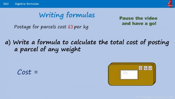 A2 - How to use Formulae in Algebra