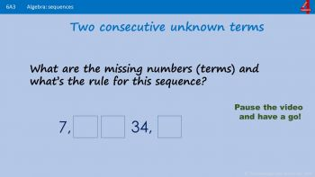 A3 - How to Generate and Describe Linear Number Sequences