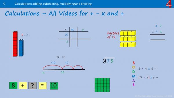 All Videos for Calculation Strand