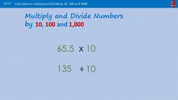 Multiply and Divide by 10, 1000 and 1000