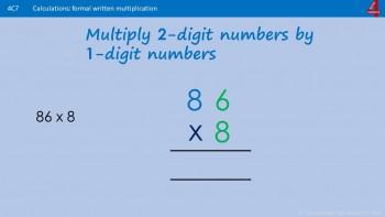 Multiply by 1-digit number - Formal Column Method