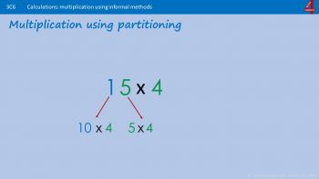 Multiply using Partitioning