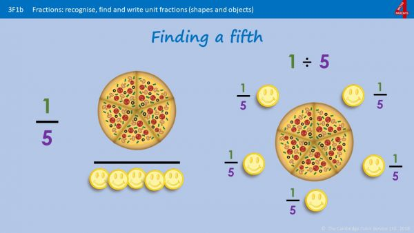 Finding Thirds, Fifths and Sixths of Numbers