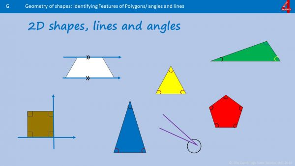 G2 Identify 2D Shapes, Lines and Angles