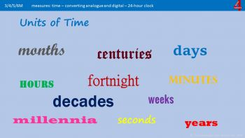 Mb4c - Units of Time - from Seconds to Years